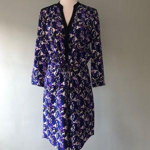 👗 DVF drawstring waist silk dress